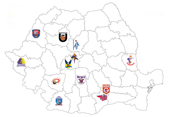 harta echipe baschet